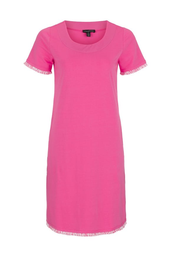 FRINGED SHIFT DRESS