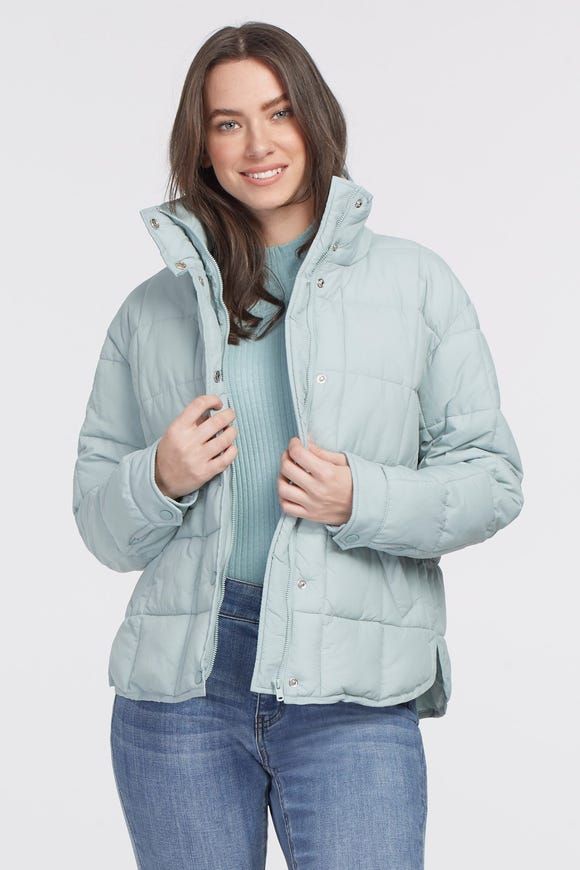 SHORT QUILTED WATER REPELLENT PUFFER JACKET